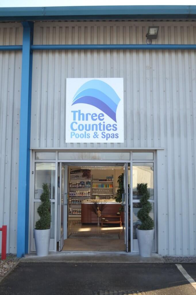 Three Counties Pools and Spas Front Entrance