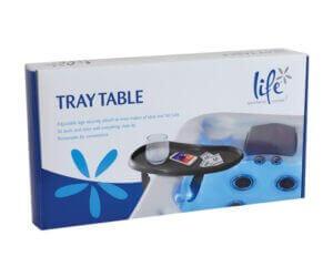 Spa tray table